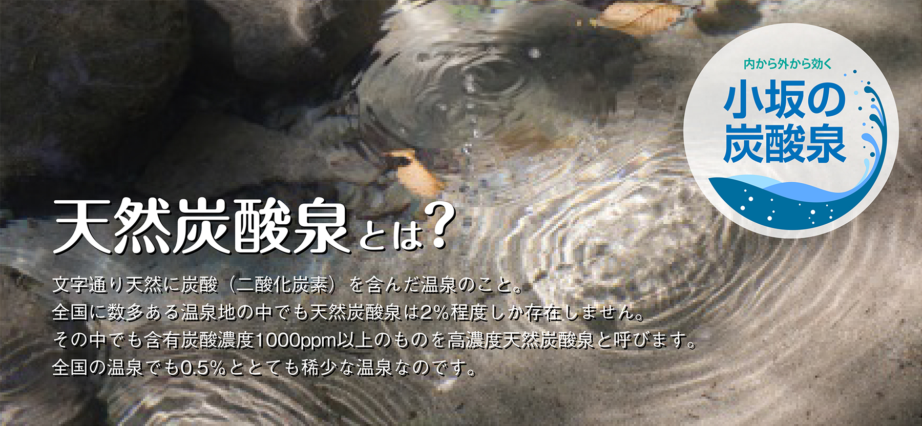 天然炭酸泉とは?