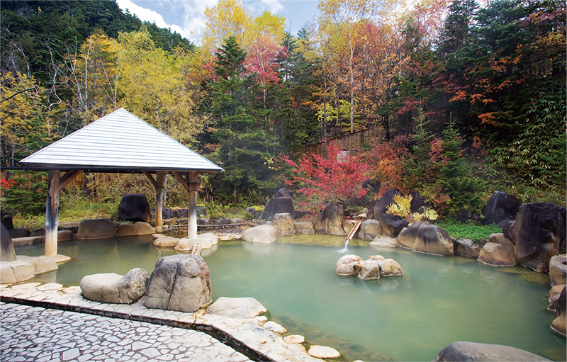 Town-operated outdoor onsen facility