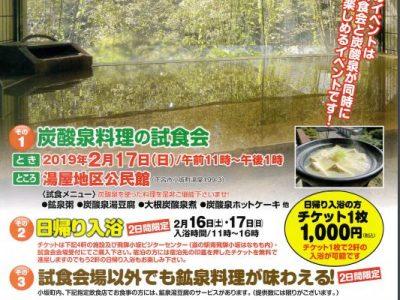 冬の小坂の炭酸泉まつり、チケット発売中!